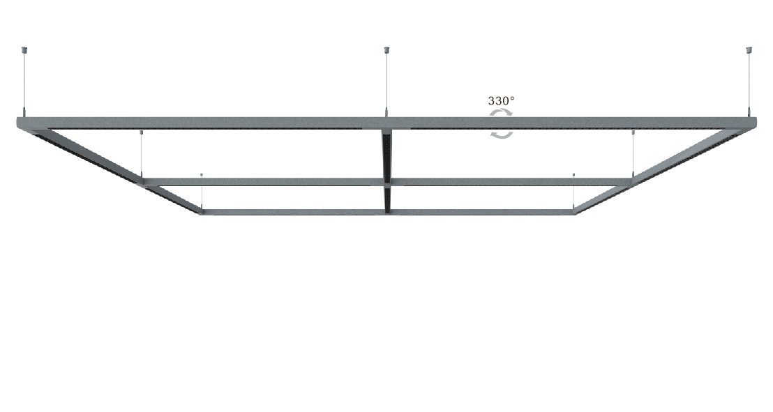 Jago  Suspended /Ceiling surface-mounted continuous row  900